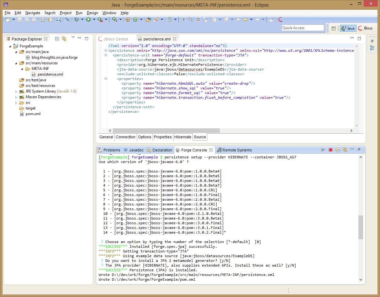 JBoss Forge - Speedup your enterprise development - Thoughts on Java