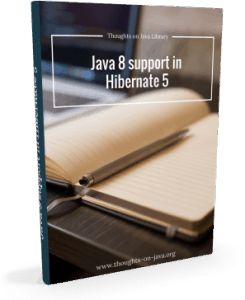 Java 8 support in Hibernate 5 - 3d cover