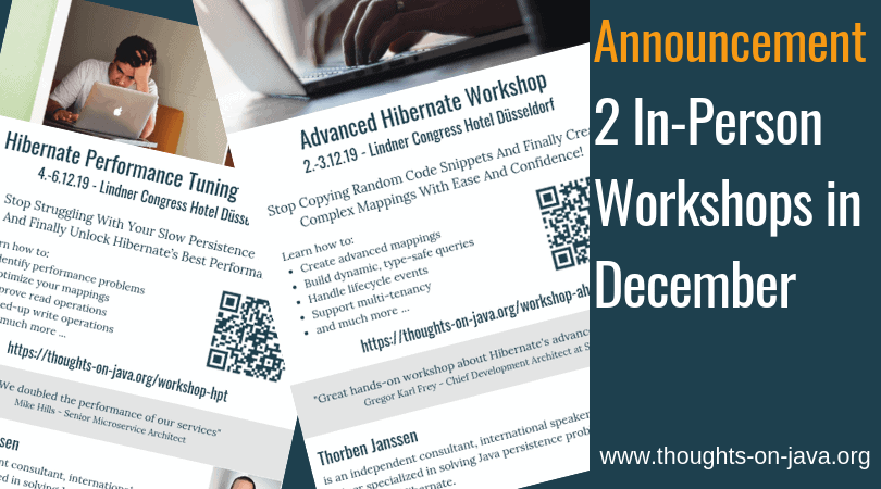 Announcing 2 In-Person Workshops in December